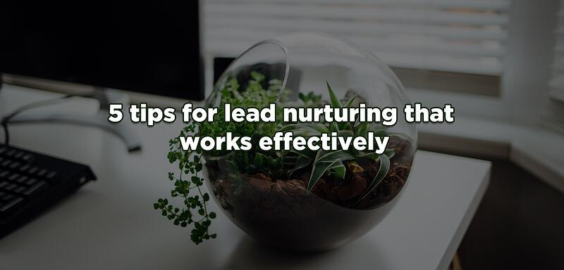 5 tips for lead nurturing