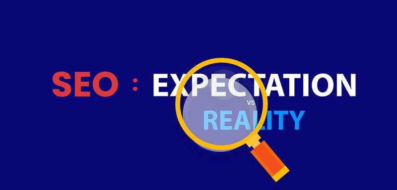 SEO- reality v_s expectation image