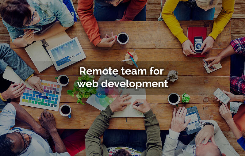 remote team for web development