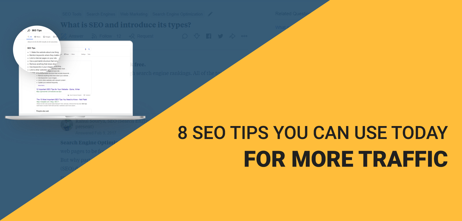 8 SEO tips you can use today for more traffic